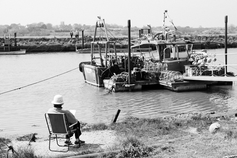Sketching fishing boats, Southwold, Suffolk